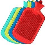 SteadMax Hot Water Bottle, Natural Rubber -BPA