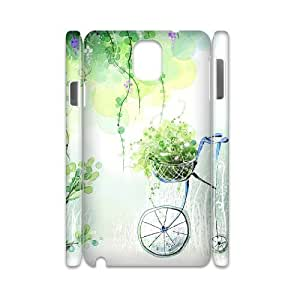 3D Cycling flower Samsung Galaxy Note 3 Case White