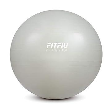 Fitfiu -AB0065 Balón para pilates y yoga, Color Gris Claro, 65 cm ...