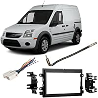 Fits Ford Transit Connect 2013 DDIN Aftermarket Harness Radio Install Dash Kit