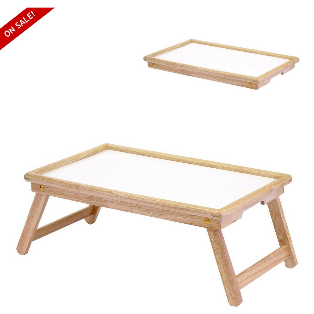 Bed Tray Organizer Folding Bed Table Tray Made Of Wood Simple Design For Everyday Activities By TSR