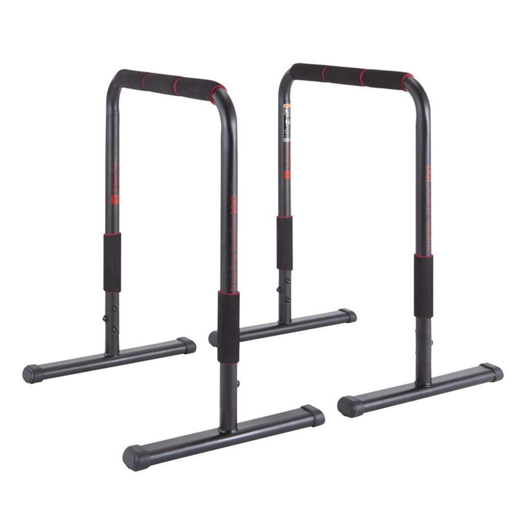 ホーム平行棒水平バーフィットネストレーニングディップステーションバーを押し上げるフィットネスイコライザーフィットネストレーニング機器 (Color : Black, Size : 65x47x78cm) 65x47x78cm Black B07PXVJHZC
