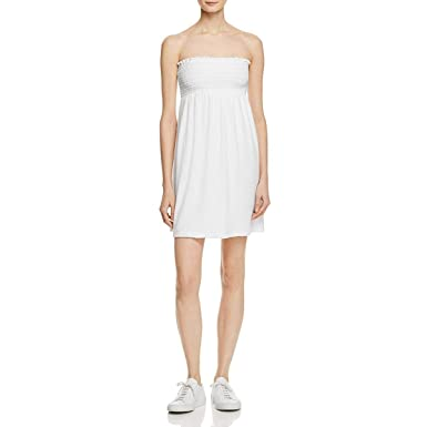 8e3ba1cd58 Amazon.com  Juicy Couture Womens Microterry Strapless Sundress White ...