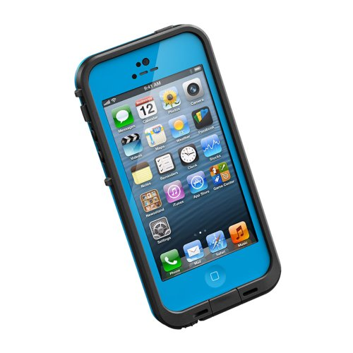 LifeProof FRE iPhone 5 Waterproof Case - Retail Packaging - CYAN/BLACK (Green Lifeproof Iphone 4 Case)