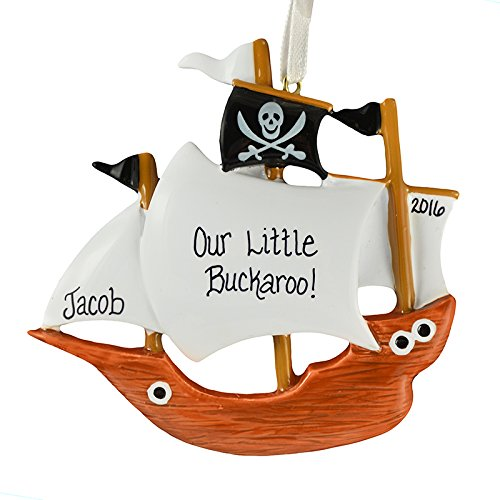 Ornaments Pirate Ship Personalized Christmas Tree ()