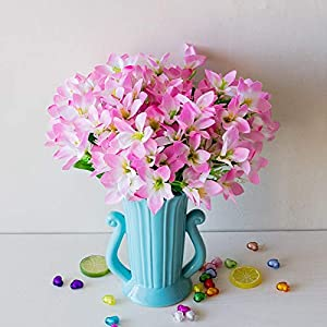 Linker Wish 18 Heads/Bouquet Artificial Lily Flowers Wedding Decorative Flowers Calla Lily Fake Narcissus Flowers Party Decor Accessories 18