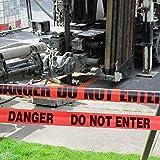 GroTheory Red Danger Do Not Enter Tape 2 Pack, 3