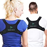 Ravista Upper Back Posture Corrector - Medical Adjustable Clavicle Brace Support with Comfort Shoulder Strap for Women Men - Wearable Under Clothes - Improve Office Slouching Computer Sitting Position