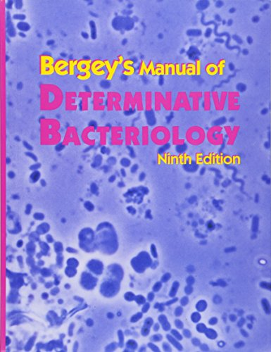 bergey's manual of determinative bacteriology 9th edition pdf
