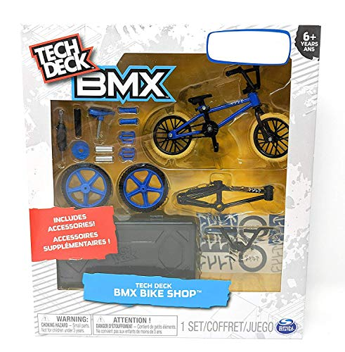 :Tech Deck BMX Bike Shop with Accessories and Storage Container - Design Your Way Bike Toy - CULT Bikes Design - Blue and Black - For Ages 6 and Up