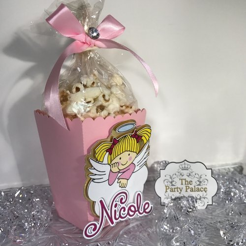 10 Mini Popcorn Box Party Favors, Popcorn Boxes, First Communion from The Party Palace