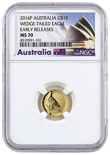2016 AU 0.1 oz Gold Australia Wedge-Tailed Eagle 15 Dollar MS70 NGC