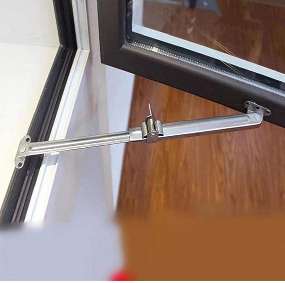 Angoter Controlador de Acero Inoxidable telescópica Soporte Ventana Viento limitador de ángulo Fijo Gusset Puerta corrediza de Apoyo y Accesorios de Ventana: Amazon.es: Hogar