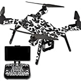 MightySkins Protective Vinyl Skin Decal for 3DR Solo Drone Quadcopter wrap cover sticker skins Black Damask