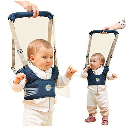 Gold Bug Harness (Xerhnan Handheld Baby Walker, Toddler Safety Harness to Prevent Baby Falling, Safe and Non-Toxic, Breathable and Comfortable, Pulling and Lifting Dual Use, Blue (winter))