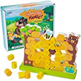 Honeycomb Havoc! | Children's Tabletop Board Game for Kids and Toddlers | Tumbling Tower Wooden Stacking Block Family Game Night Fun and Early Learning Play