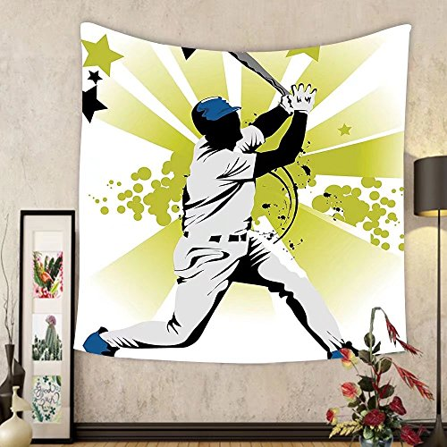 Gzhihine Custom tapestry Sports Decor Tapestry Collection of Different Soccer Player and Goalkeeper Positions Soccer Theme Sketch Art Bedroom Living Room Dorm Decor 60 x 80 Yellow Black by Gzhihine