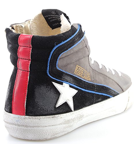GOLDEN GOOSE Zapatos Hombres Sneakers G31MS595Q7 Slide Lavagna Suede White Star