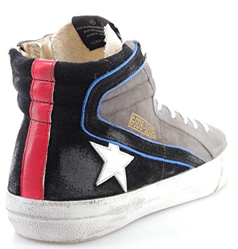 Golden Goose Scarpe Sneakers Uomo G31MS595Q7 Slide Lavagna Suede White Star ITA
