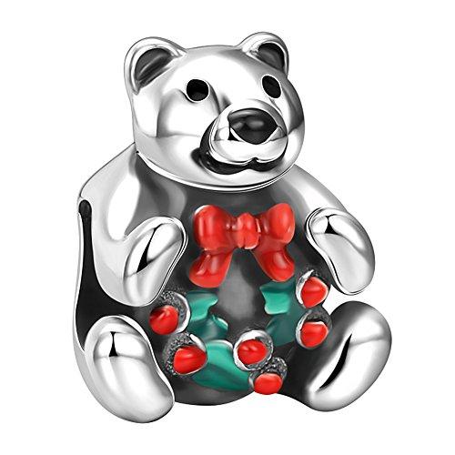 Sterling Silver Teddy Bear Charm - 7