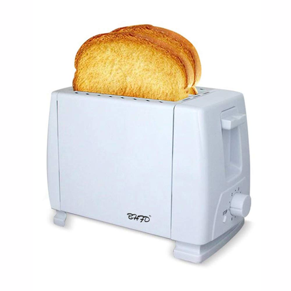 2 Slice Toaster with 2 Extra-Wide Slots - 2 Slot Toasters - Stainless Steel with Pop Up Reheat Defrost Functions 5-Shade Control Removable Crumb Tray