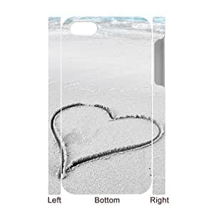 3D Bumper Plastic Case Of Heart customized case For iPhone 5c