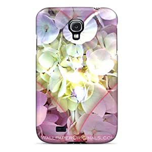 New Style Tpu S4 Protective Case Cover/ Galaxy Case - Heart Shape On Flowers