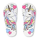 The Children's Place Kids' BG Unicorn FF Flat Sandal