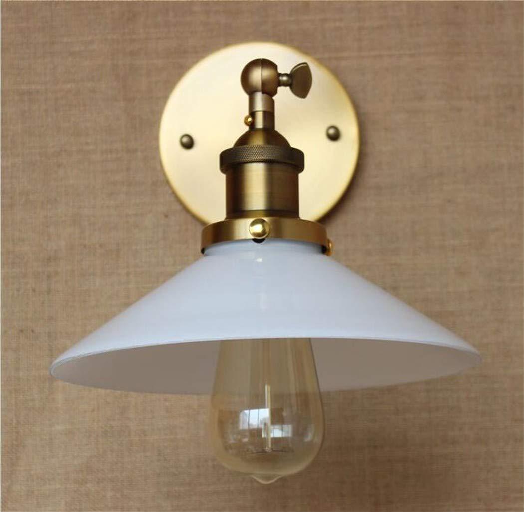 Wall lumièreinterieur Luminaires Décoration Murale Lampenordic Led Applique Murale Simple Rétro Lampe Chambre Salon Corridor Lampe Fer Art Blanc Verre