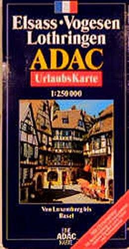 ADAC Karte, Elsass, Vogesen, Lothringen (ADAC Karten Frankreich / 1:150000) Sondereinband – Folded Map, 1. Dezember 2005 MAIRDUMONT 3826410491 Europa Karten / Stadtpläne / Europa