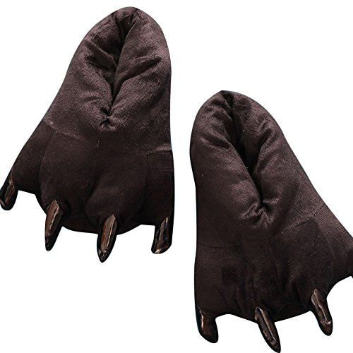 7ab4709bfe6d Plush Paw Claw Shoes Home Slippers Animal Costumes Loafers