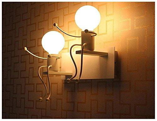 Lampada porta da parete industrial metallo lampade da parete interno