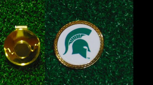 Gatormade Golf Ball Marker & Hat Clip Michigan state ()