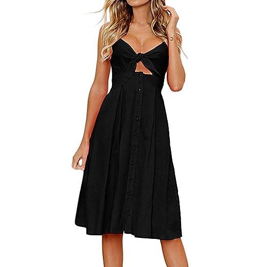 9ebb37309 Amazon.com: Xinantime Women's Chic Sleeveless Cross-Neck Gown, Holiday Bow  tie Beach Dress: Clothing