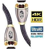 4K HDMI-kabel 1M HDMI Lead-Ultra High-Speed 18Gbps HDMI 2.0b-kabel 4K @ 60Hz Ondersteuning voor Fire TV, Ethernet, Audio…
