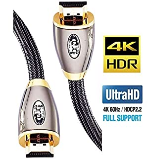 HDMI Cable 5ft - HDMI 2.0(4K@60Hz) Ready -18Gbps-28AWG Braided Cord -Gold Plated Connectors -Ethernet, Audio Return -Video 4K 2160p, HD 1080p,3D -Xbox Playstation PS3 PS4 PC Apple TV -IBRA RED (B0031APPM4) | Amazon price tracker / tracking, Amazon price history charts, Amazon price watches, Amazon price drop alerts