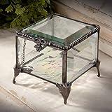 J Devlin Box 326 Beveled Glass Keepsake Jewelry Box