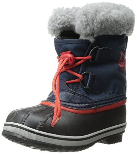 SOREL Yoot Pac Nylon Collegi N Cold Weather Boot (Toddler/Little Kid/Big Kid), Collegiate Navy, 5 M US Big Kid (Youth Leather Navy Footwear)