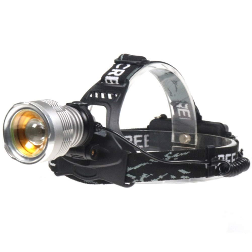 Phil lamps Linterna Frontal Led Recargable De Alta Potencia 800lm Luz De Pesca Nocturna Ajuste Libre De 90 ° Zoom Rotativo Adecuado para La Pesca/Ciclismo/Aventura/Caza