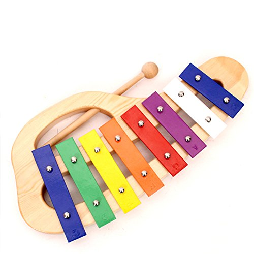 Xylophone Musical Instrument Includes Wooden Mallet 8 Notes Baby Glockenspiel Orff Percussion by OSOPOLA