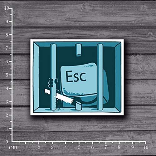 Jailbreak. Escape Keyboard Stickers for Children Funny Cartoon Laptop Stickers Home Decor Wall Car Skateboard Kids Toys[Single]