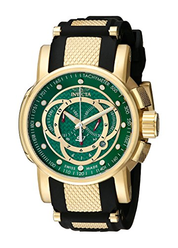 Invicta Men's 0898 S1 Chronograph Green Fiber Dial Black Polyurethane Watch ()