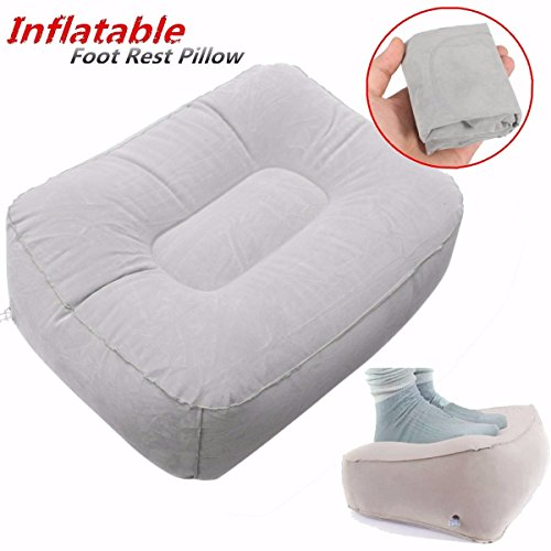 Inflatable Beds With Legs: AUDEW Inflatable Travel Foot Rest Pillow Cushion Ottomans