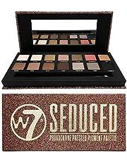 W7 | Seduced Geperst pigment make-uppalet| Tinten: Crèmekleurige tinten, Matte Tinten, Glinsterende Metaaltinten | Kleuren: delicate nude, goud, roze en rook | Dierproefvrije, veganistische make-up voor vrouwen