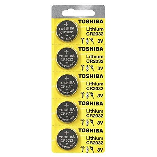 Toshiba CR2032 3 Volt Lithium Coin Battery 500 pcs by Toshiba