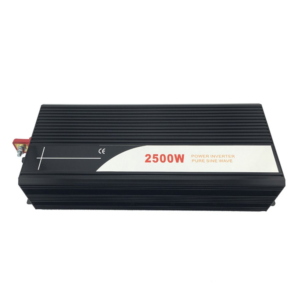 Xijia 2500W (Peak 5000W) Pure Sine Wave power Inverter DC 24V 48V to AC 120V 60HZ Solar converter For Home Use car (DC 24V to AC 120V)