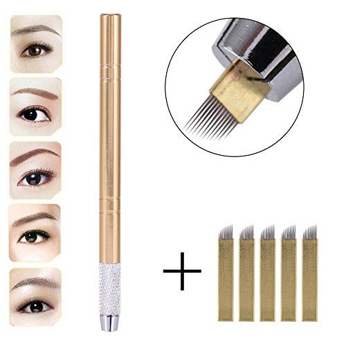 3D Eyebrow Tattoo Microblading Blade Pen Pencil Manual Semi-Permanent Makeup Tool