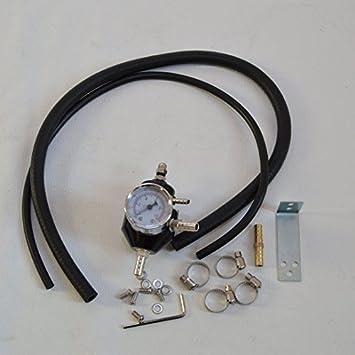 Regulador de presión de gasolina negro Volkswagen Polo Golf Vento 1 2 3 4 5 16 V VR6 R32 Turbo R30 R28: Amazon.es: Coche y moto