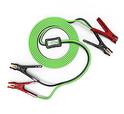 MYCHANIC Smart Cables (6 Gauge, 12 feet) - Jumper Cables for Cars, Trucks and SUVs