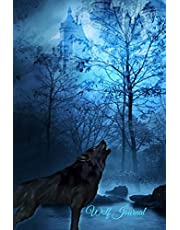 Wolf Journal: Blank-Lined Journal   Wolf Corner Interior Image on Every Page